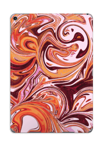 Mármol Fluido Lila y Naranja Vinilo  IPad Pro 10.5