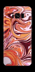 Mármol Fluido Lila y Naranja Vinilo  Galaxy S8