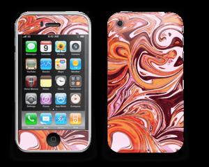 Mármol Fluido Lila y Naranja Vinilo  IPhone 3G/3GS