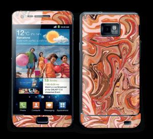 Orange og lyserød marmor Skin Galaxy S2