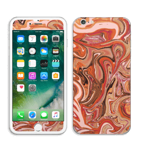 Orange og lyserød marmor Skin IPhone 6 Plus