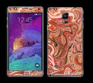 Orange og lyserød marmor Skin Galaxy Note 4
