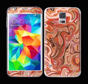 Orange og lyserød marmor Skin Galaxy S5