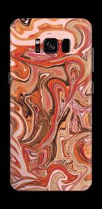 Mármol Fluido Naranja Vinilo  Galaxy S8