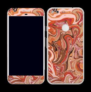Orange og lyserød marmor Skin Pixel