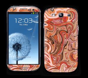Orange og lyserød marmor Skin Galaxy S3
