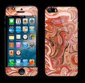 Orange og lyserød marmor Skin