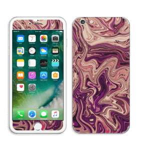 Flydende marmor i lilla Skin IPhone 6 Plus