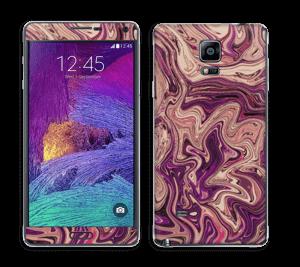 Flydende marmor i lilla Skin Galaxy Note 4
