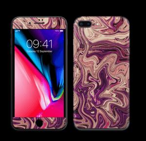 Liila marmori  tarrakuori IPhone 8 Plus