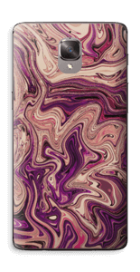 Flytande marmor i lila Skin OnePlus 3