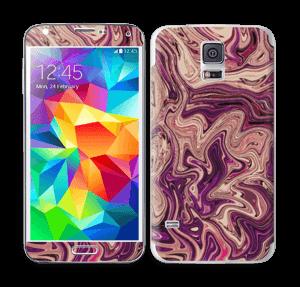 Flydende marmor i lilla Skin Galaxy S5