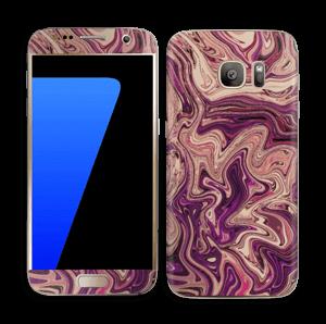 Liila marmori  tarrakuori Galaxy S7