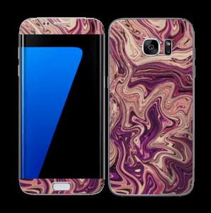 Flydende marmor i lilla Skin Galaxy S7 Edge