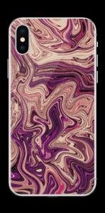 Flydende marmor i lilla Skin IPhone X