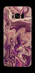 Liila marmori  tarrakuori Galaxy S8