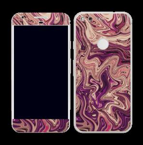 Flydende marmor i lilla Skin Pixel
