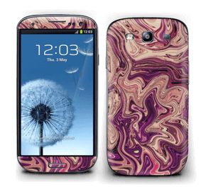 Flydende marmor i lilla Skin Galaxy S3