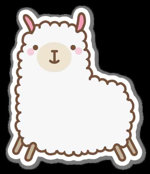 Süßes Lama sticker