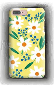 Valkoiset kukat kuoret IPhone 7 Plus