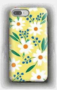 Valkoiset kukat kuoret IPhone 7 Plus tough