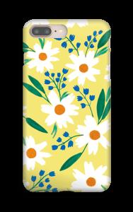 Valkoiset kukat kuoret IPhone 8 Plus