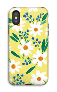Valkoiset kukat kuoret IPhone X tough