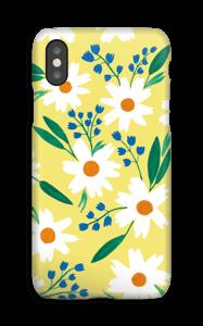 Valkoiset kukat kuoret IPhone XS