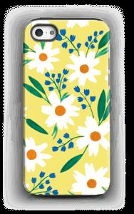Valkoiset kukat kuoret IPhone 5/5s tough