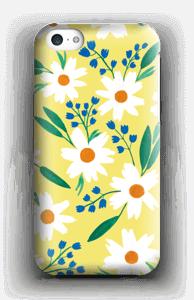 Valkoiset kukat kuoret IPhone 5c