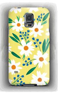 Valkoiset kukat kuoret Galaxy S5