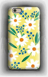 Valkoiset kukat kuoret IPhone 6 tough