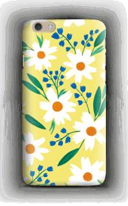 Valkoiset kukat kuoret IPhone 6 Plus