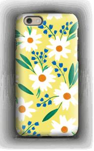 Valkoiset kukat kuoret IPhone 6s tough