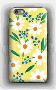 Valkoiset kukat kuoret IPhone 6 Plus tough
