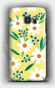 Valkoiset kukat kuoret Galaxy S7