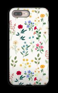 Lentebloemetjes hoesje IPhone 8 Plus tough