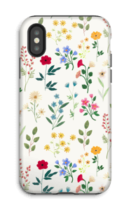 Spring Botanicals case IPhone X tough