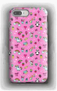 Cuties i rosa  deksel IPhone 7 Plus tough