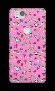 Cuties i rosa  deksel Pixel 2