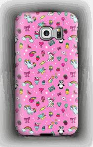 Pinkit söpöliinit kuoret Galaxy S6 Edge