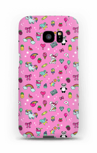 Cuties i rosa  deksel Galaxy S7 Edge