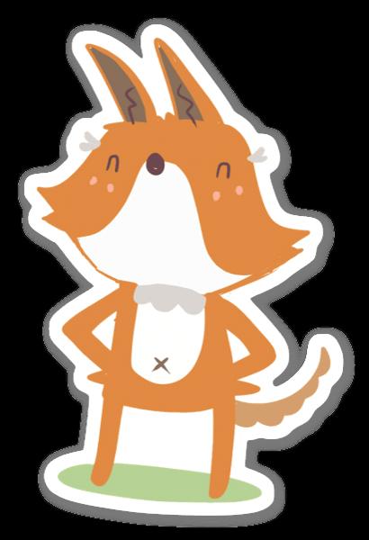 Süßer Fuchs sticker