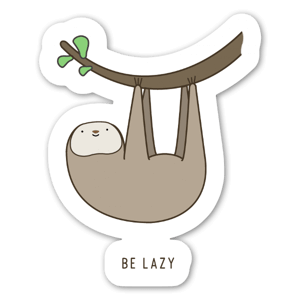 Lazy Sloth  sticker