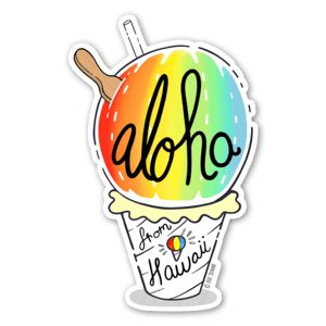 Shave Ice Aloha  sticker