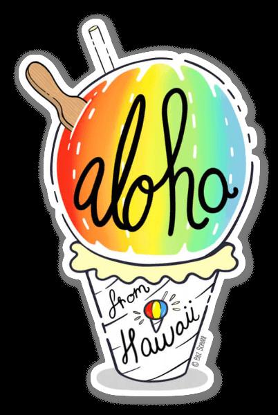 Shave Ice Aloha  sticker