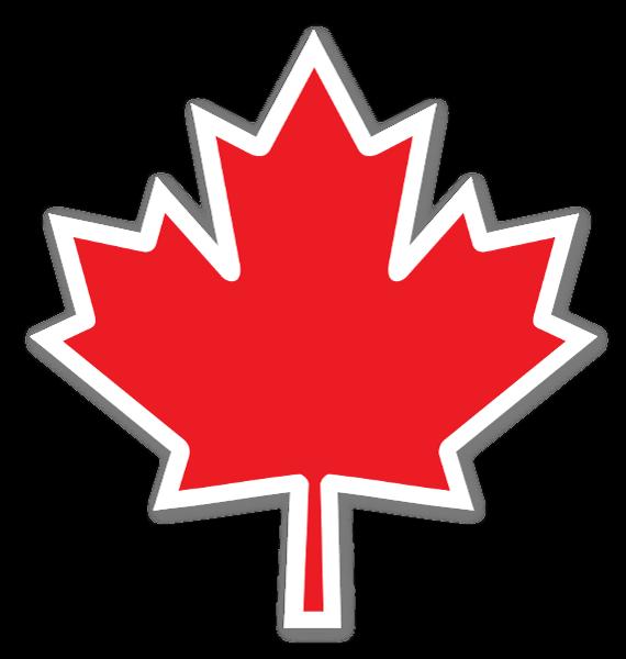 Canada leaf sticker