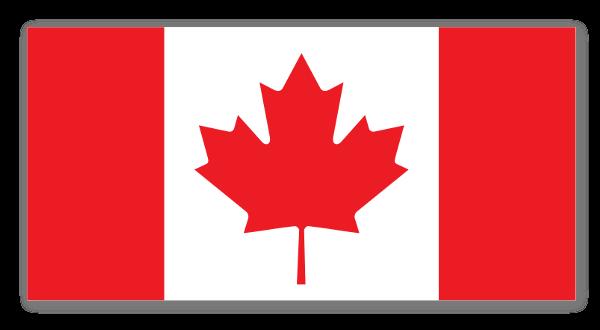 Bandera Canadá pegatina