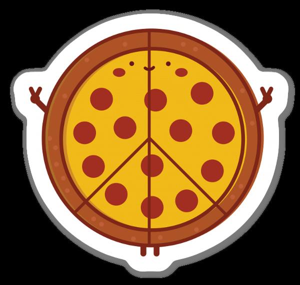 Peace of Pizza  sticker