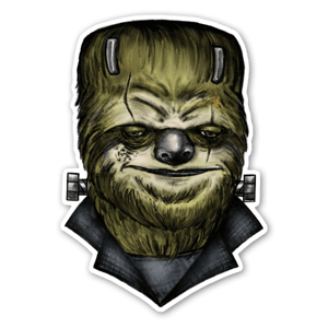 Slothinstain  sticker